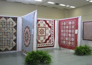 Quilts on display at the 32nd Annual Tyler Quilt Show.
