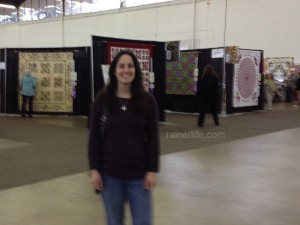Me enjoying the quilt show.