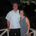Michael and Darinda ready for dinner at Coconut Beach Club.