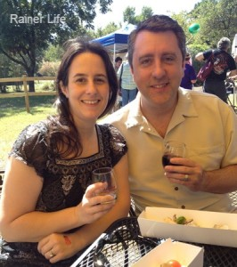 Darinda and Micheal enjoying the Avinger Wine Festival.