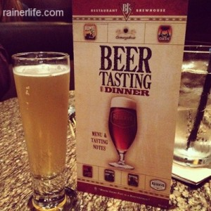 BJ's Beer Tasting & Dinner | rainerlife.com