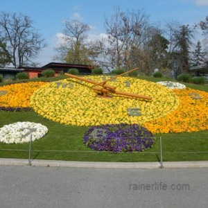 Horloge Fleurie (Flower Clock), Geneva, Switzerland | rainerlife.com