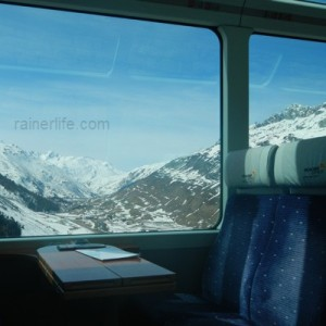 Seats on Glacier Express, Switzerland | rainerlife.com