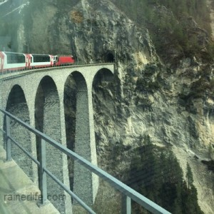 View of Landwasser Viaduct from the Glacier Express, Switzerland | rainerlife.com