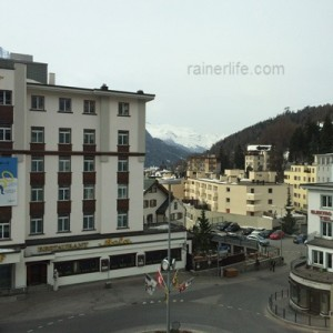 View from our room at Hauser Hotel, St. Moritz, Switzerland | rainerlife.com