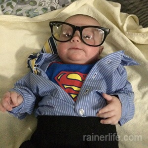 Gavin as Clark Kent aka Superman | rainerlife.com