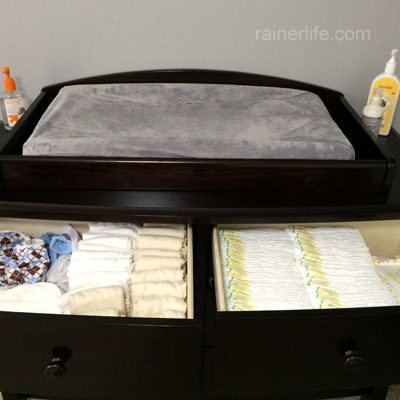 Changing Station - Nursery {After} | rainerlife.com