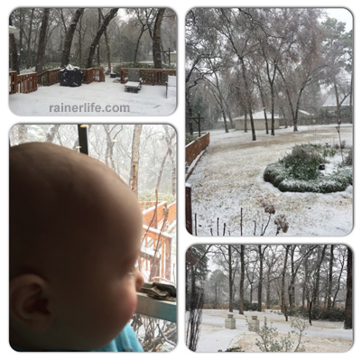 Gavin's first time seeing snow | rainerlife.com