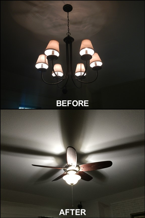 Living Room Lights {Before & After}| rainerlife.com