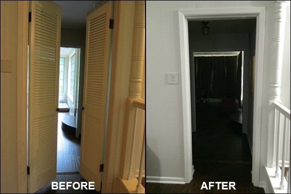 Living Room Doors {Before & After}| rainerlife.com