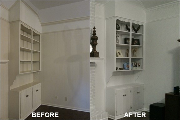 Living Room Built-in {Before & After}| rainerlife.com