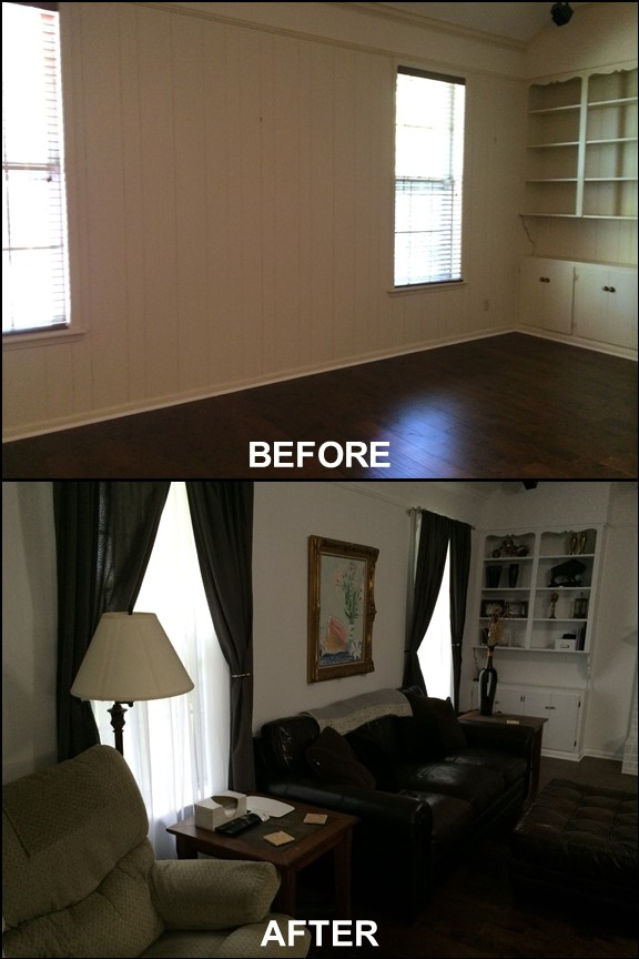 Living Room {Before & After}| rainerlife.com