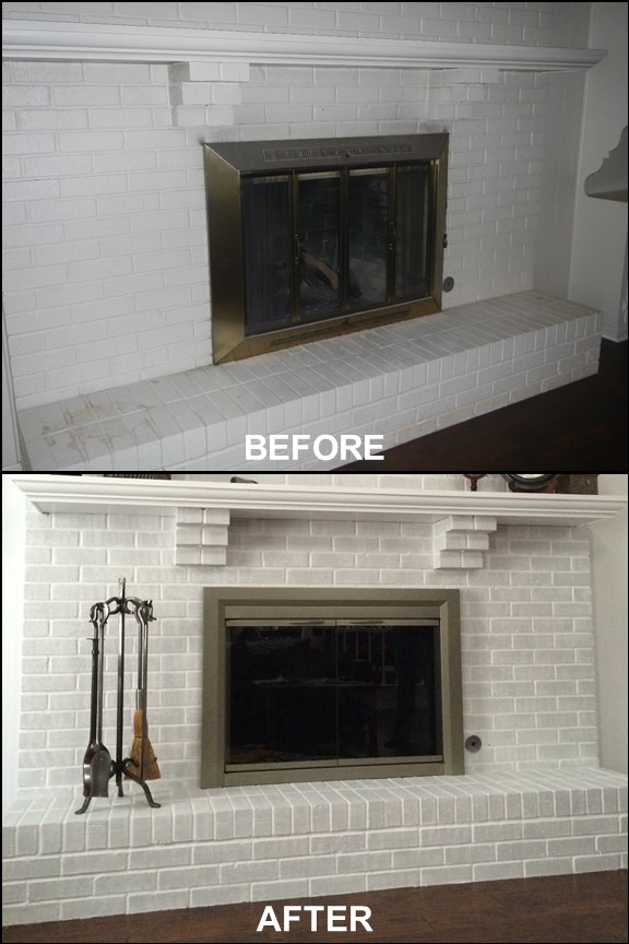 Living Room Fireplace {Before & After}| rainerlife.com