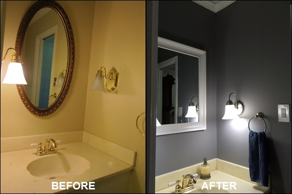 Half Bath {Before & After} | rainerlife.com