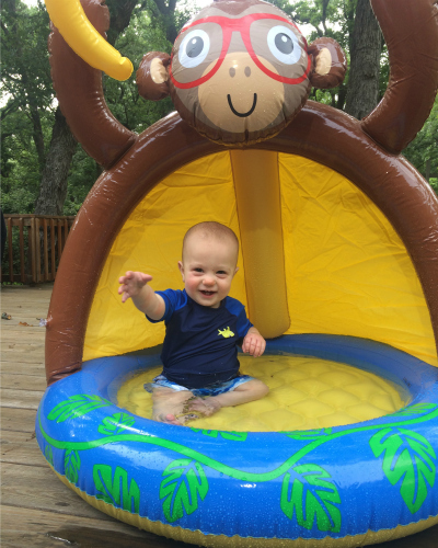 Gavin in his pool | rainerlife.com