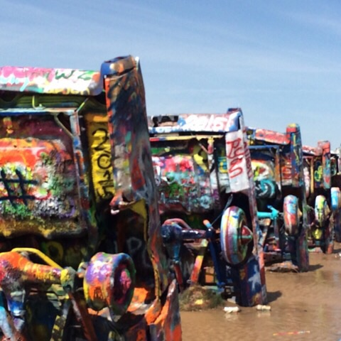 Cadillac Ranch in Amarillo | rainerlife.com