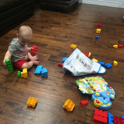 Gavin playing with his birthday gifts | rainerlife.com