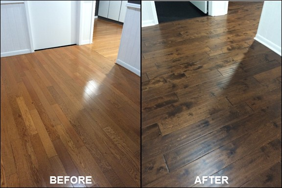 Wood Floors {Before & After} | rainerlife.com