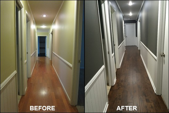 Hallway {Before & After} | rainerlife.com