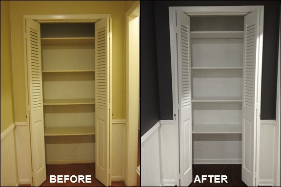 Hall Closet {Before & After} | rainerlife.com