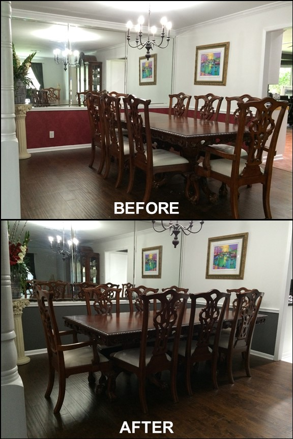 Painted Dining Room (Before & After) | rainerlife.com