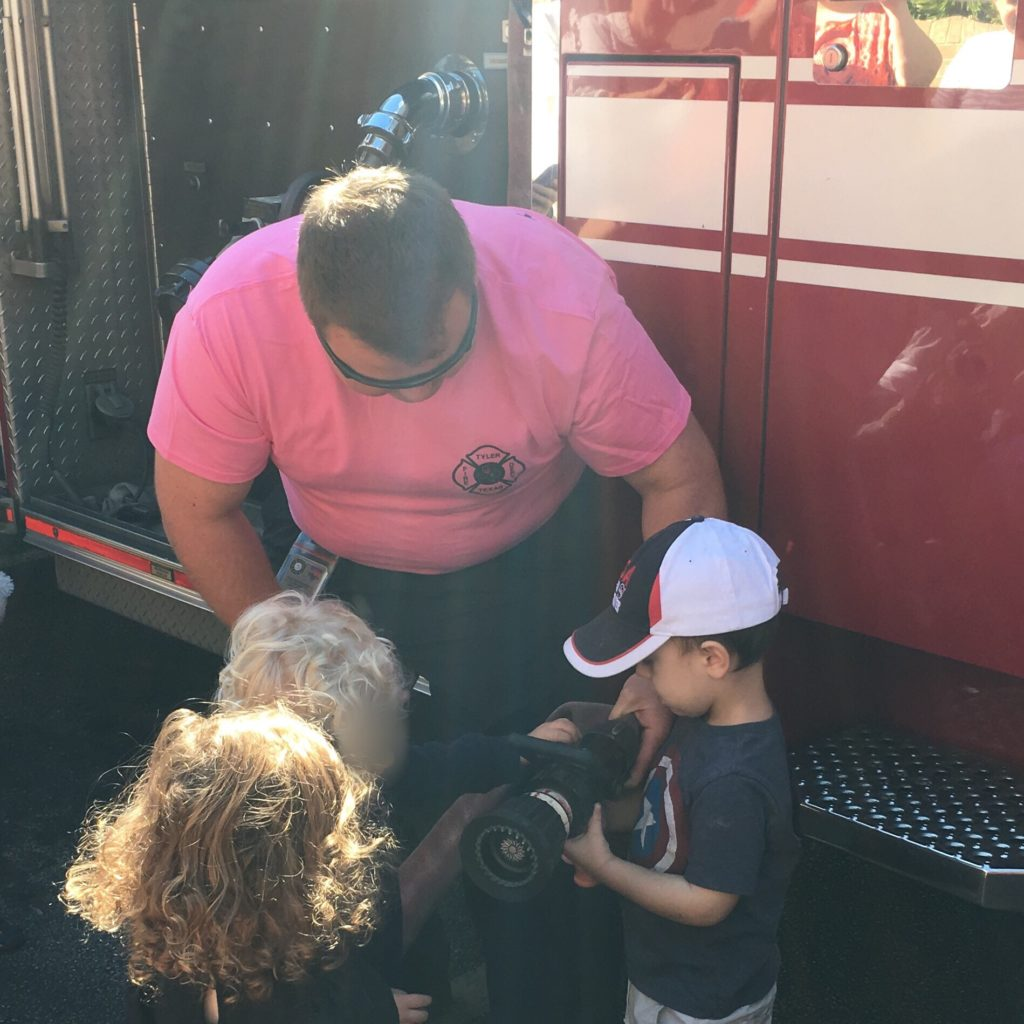 Gavin with a fireman | rainerlife.com