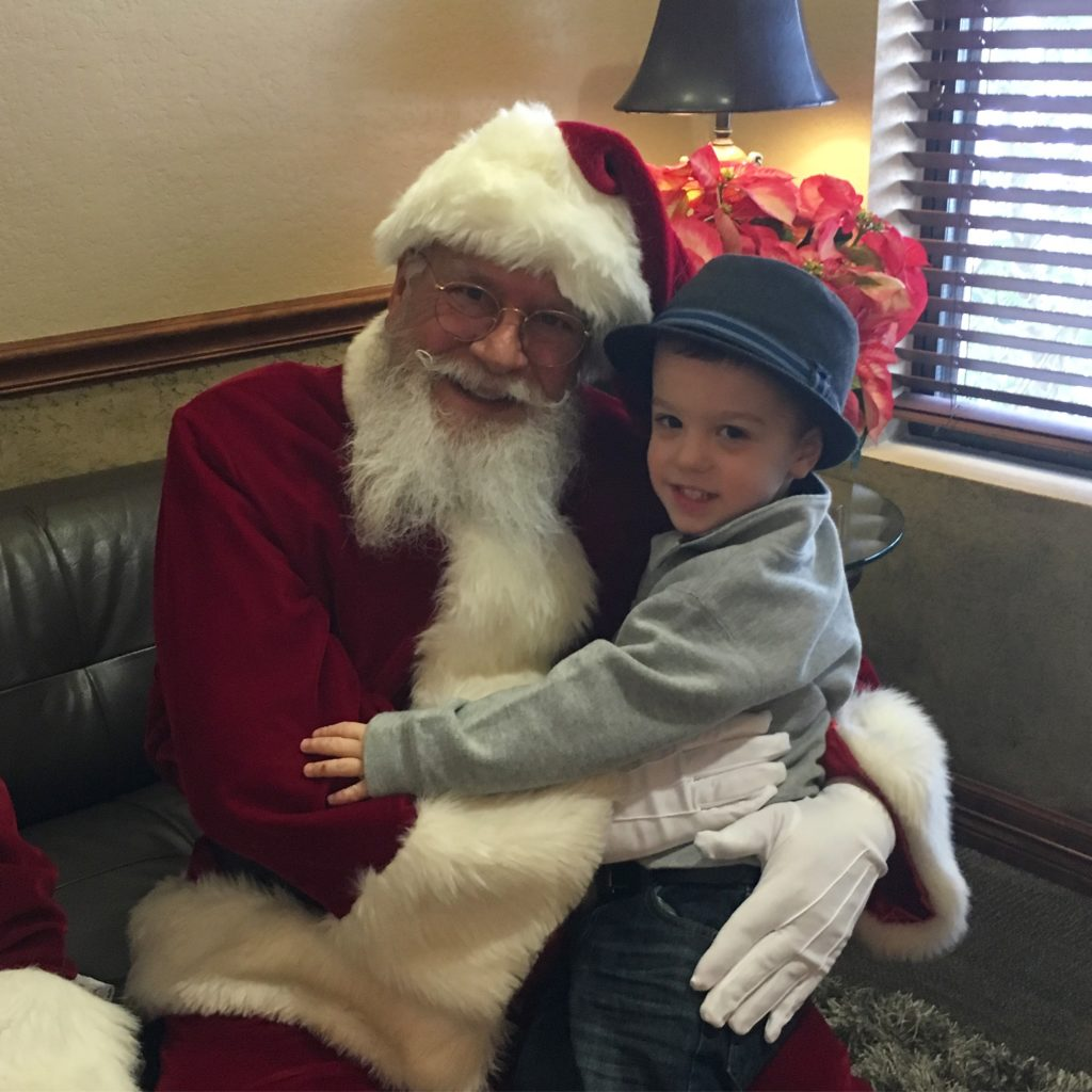 Gavin and Santa | rainerlife.com