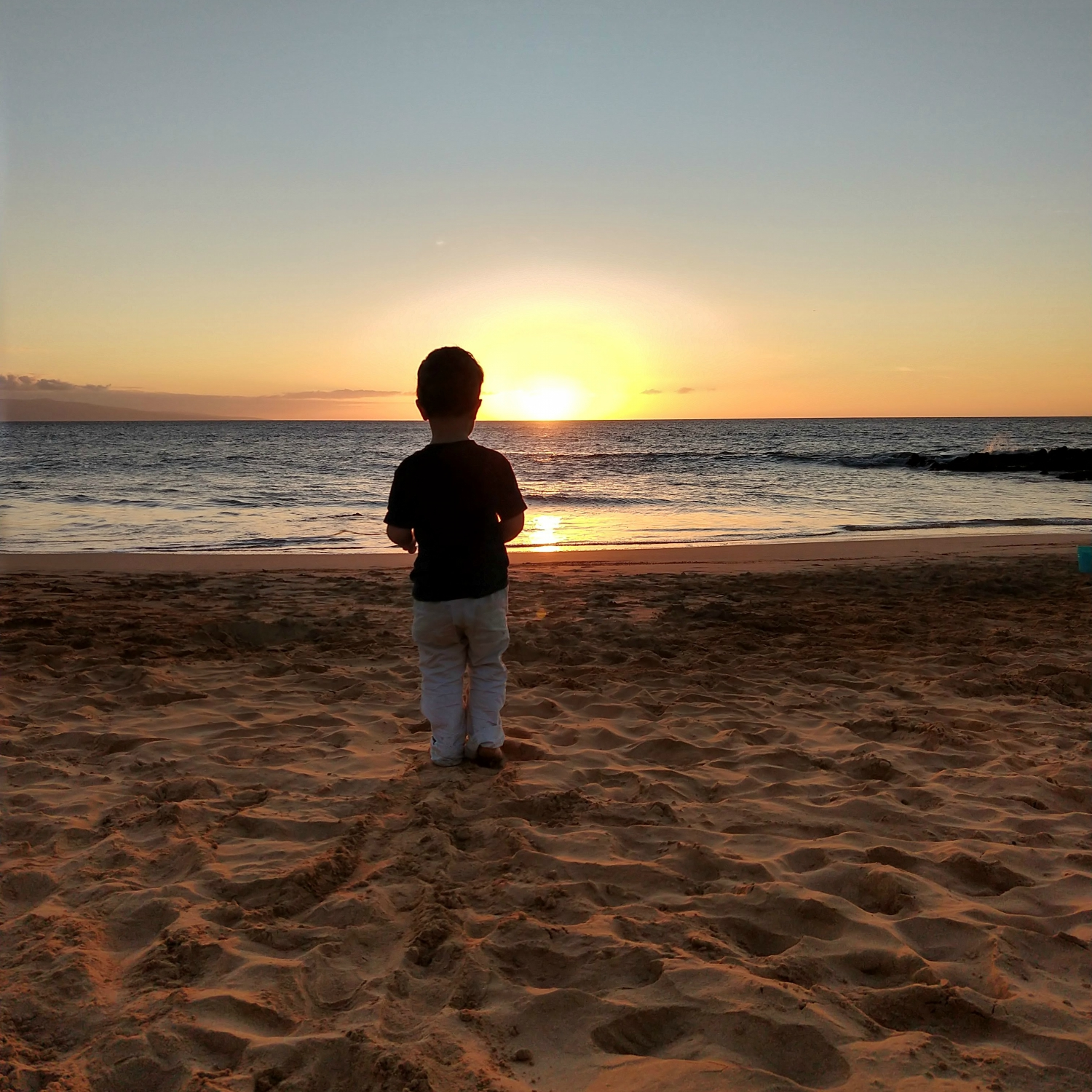 Gavin at sunset {Maui} | rainerlife.com