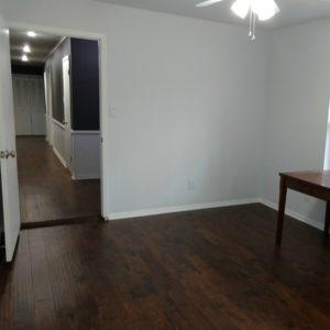 New floor in home library | rainerlife.com
