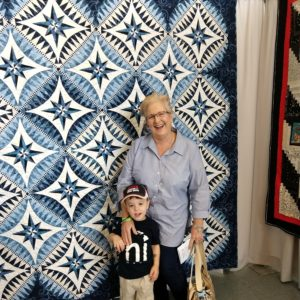 Gavin and his Honey at a quilt show | rainerlife.com
