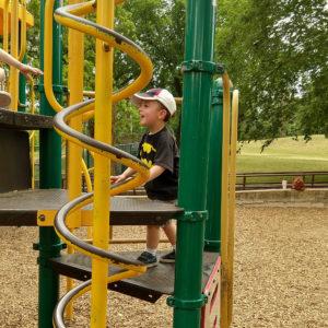 Gavin at the Barton Springs Park in Austin | rainerlife.com