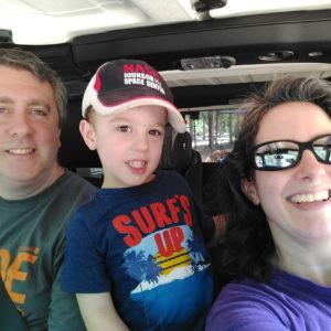 Michael, Gavin & Darinda at Cherokee Trace Drive-Thru Safari | rainerlife.com