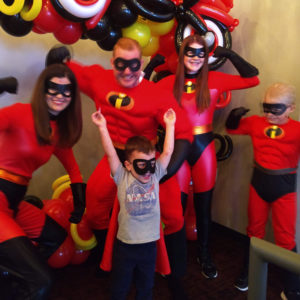 Gavin playing superhero with The Incredibles | rainerlife.com
