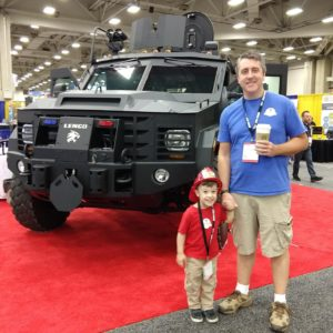 Michael & Gavin at the Fire-Rescue Expo | rainerlife.com