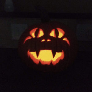 Carved pumpkin for Halloween | rainerlife.com