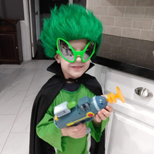 Gavin as an alien on Halloween | rainerlife.com