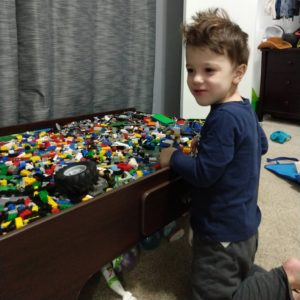 Gavin playing with LEGOs | rainerlife.com