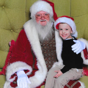Gavin with Santa | rainerlife.com