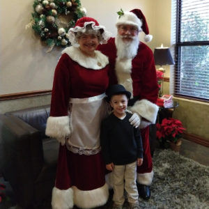 Gavin with Santa and Mrs. Claus | rainerlife.com